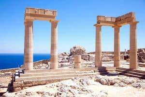 Rodi rovine antico tempio linods